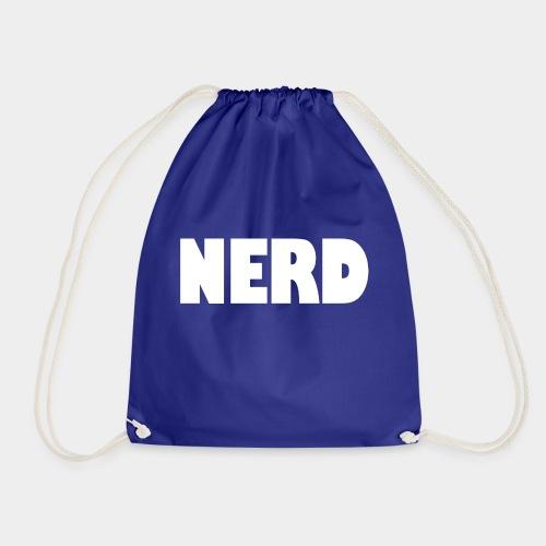 NERD Text Logo White - Drawstring Bag