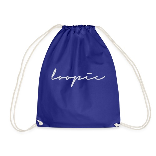 Loopie_logo_WHITE - Drawstring Bag