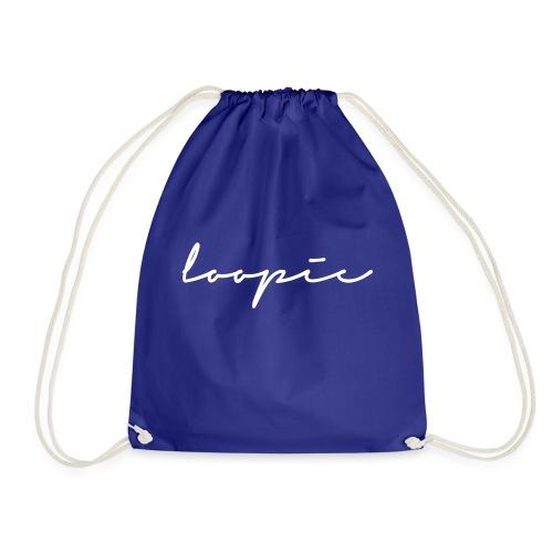 Loopie_logo_WHITE - Drawstring Bag