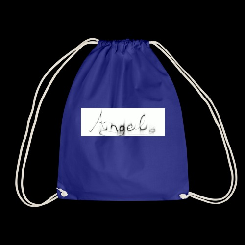 angel text - Drawstring Bag