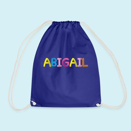 Fluffy Abigail Letter Name - Drawstring Bag