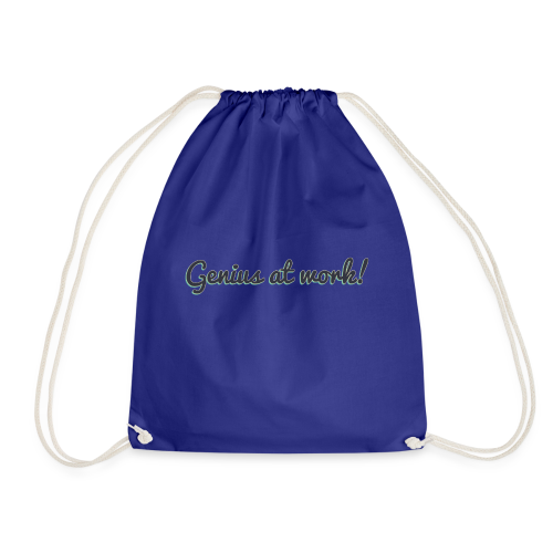 'Genius at work!' Design - Drawstring Bag