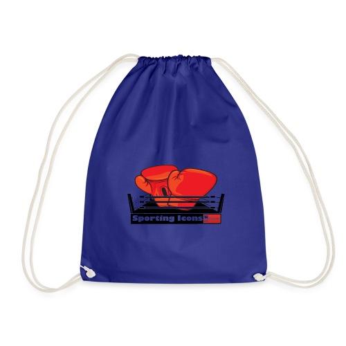 Gloves in a boxing ring - Drawstring Bag