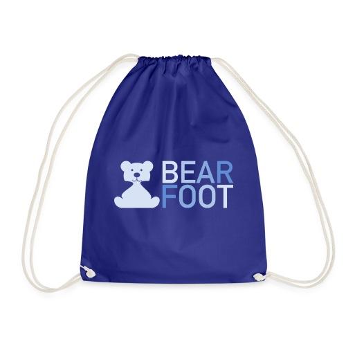 BEAR FOOT fade blue - Turnbeutel