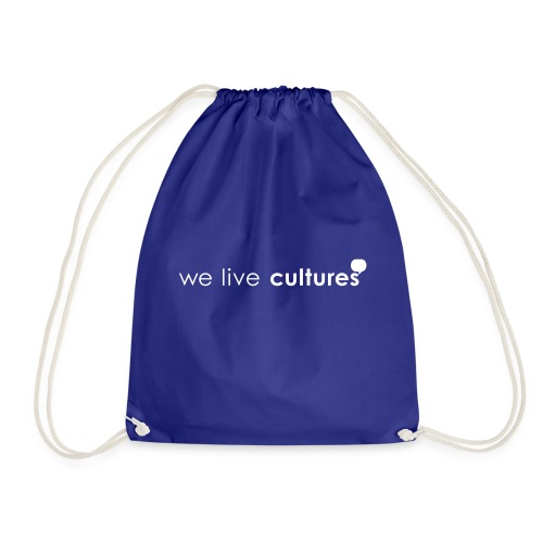 we live cultures - weiss - Turnbeutel