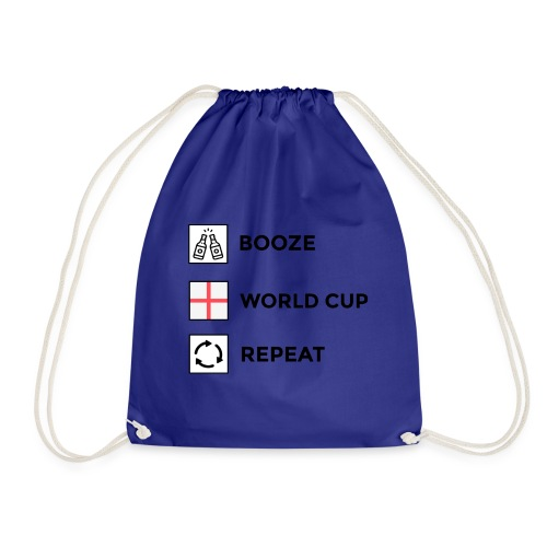 Booze - World Cup - Repeat - Drawstring Bag