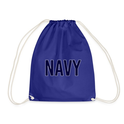 NAVY - Navy Blue - Drawstring Bag