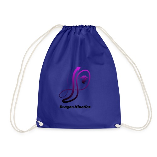 Dragon Kinetics purple logo - Drawstring Bag