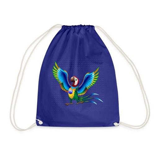 Brazil Flag Papagei - Turnbeutel