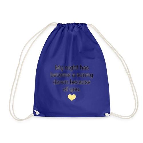 A sunny dawn - Drawstring Bag