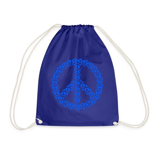 Peace Zeichen in blau - Turnbeutel