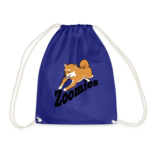 Zoomies Red Shiba - Drawstring Bag
