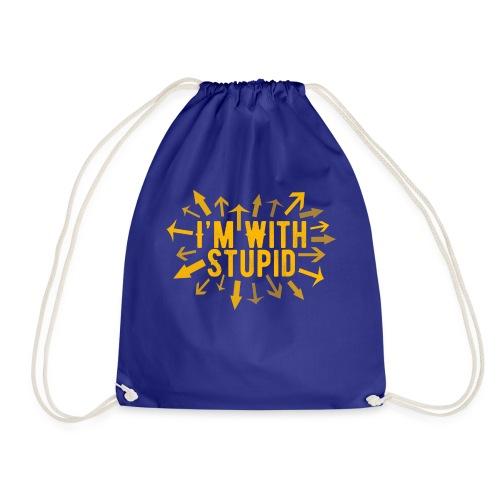 I'm With Stupid - Drawstring Bag