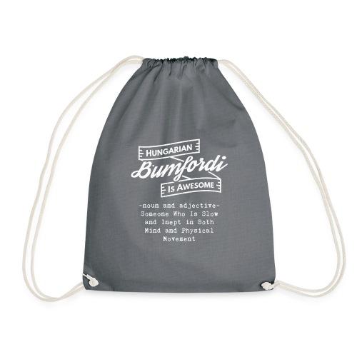 Bumfordi - Hungarian is Awesome (white fonts) - Drawstring Bag