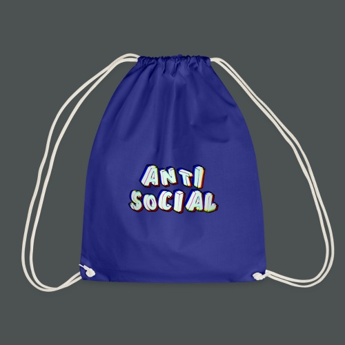 Anti social - Drawstring Bag
