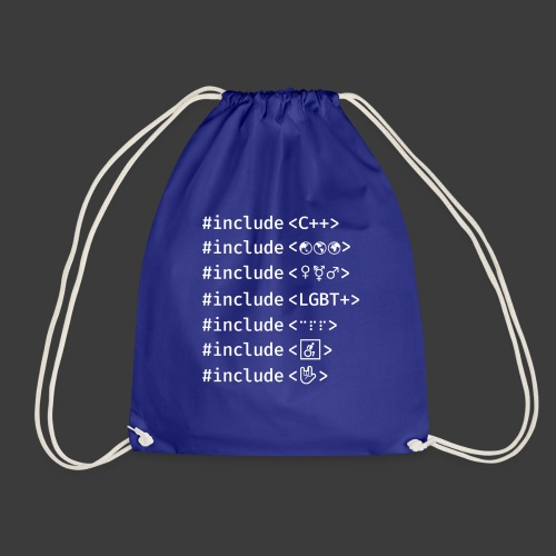 White Include List - Drawstring Bag