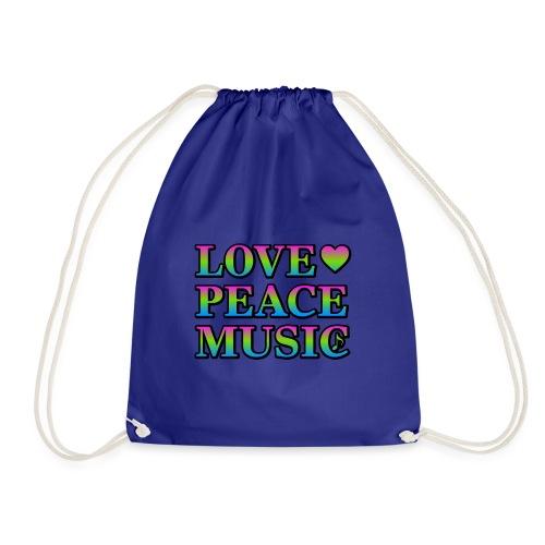 Love Peace Music - Drawstring Bag