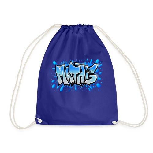 Mathis Graffiti on cap, tee-shirt, body ... - Drawstring Bag