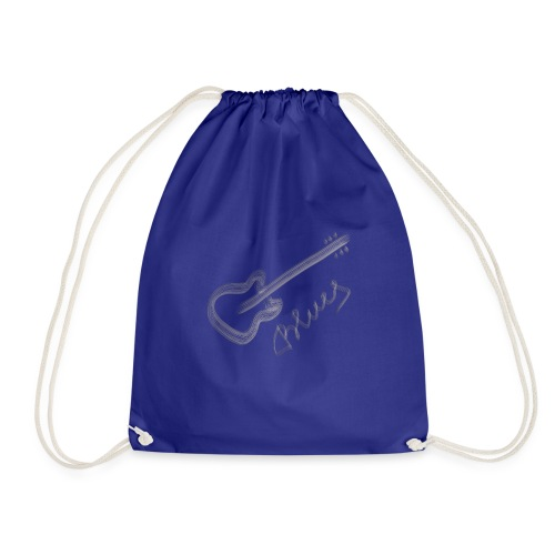 Blues white - Drawstring Bag