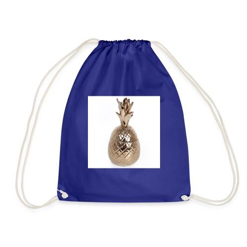 tj0067 large brass pineapple pot - Drawstring Bag