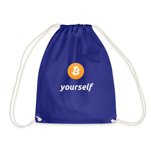 cryptocool b yourself white font -bitcoin logo - Gymtas