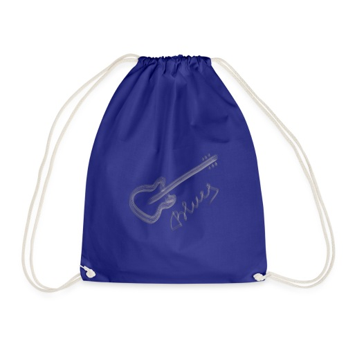 Blues white - Drawstring Bag