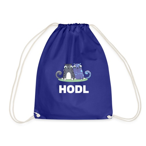 Kitty HODL white - Drawstring Bag