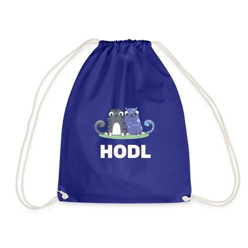 Kitty HODL white - Drawstring Bag