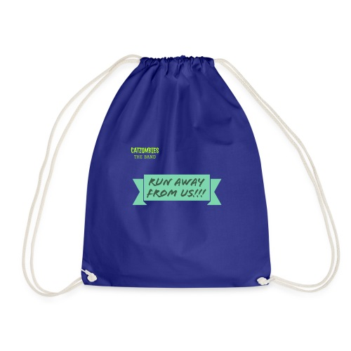 run away from us!!! - Drawstring Bag