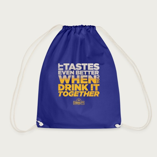 Slogan Typography - Drawstring Bag