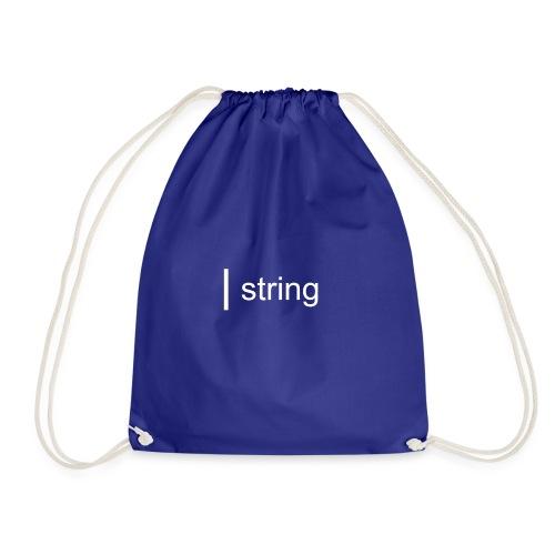 string Text - Drawstring Bag