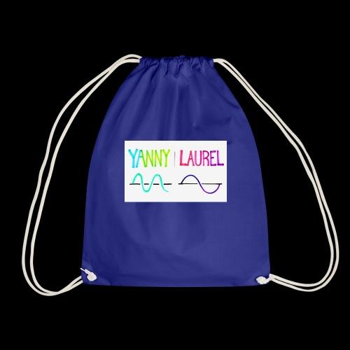 yanny laurel science - Drawstring Bag