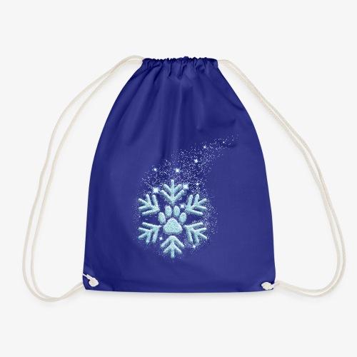 dog paw snowflake - Turnbeutel