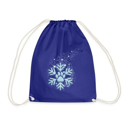 Vorschau: dog paw snowflake - Turnbeutel