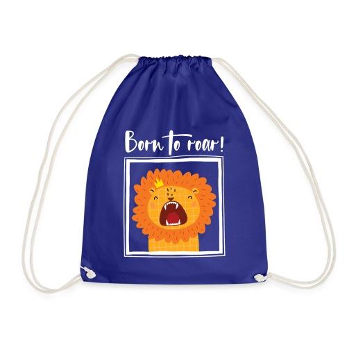 born to roar frame white - Turnbeutel
