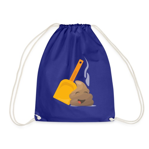Funny Poop Emoji - Drawstring Bag