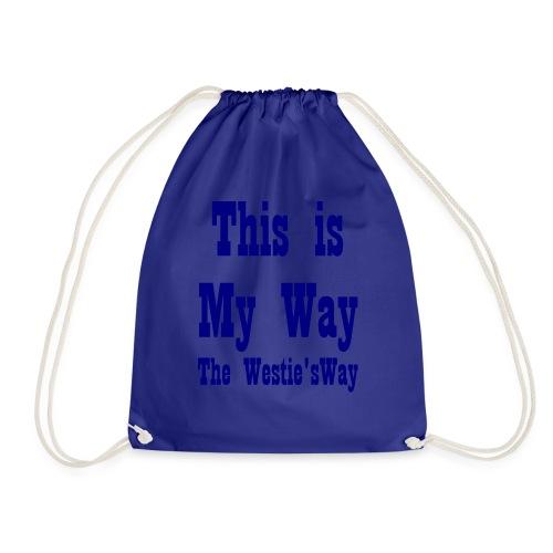 This is My Way Navy - Drawstring Bag