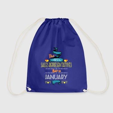 Best Sales Representatives are Born in January - Drawstring Bag