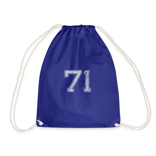 Nummer 71 Zahl Einundsiebzig Sieben Eins Geschenk - Turnbeutel