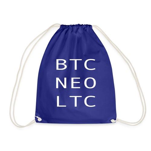 BTC NEO LTC WHITE - Drawstring Bag