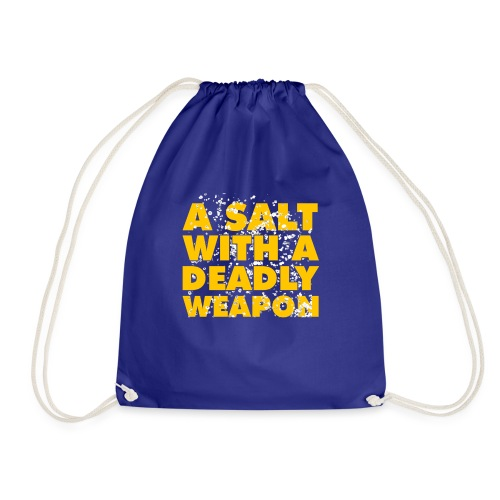 A Salt with a Deadly Weapon Yellow - Drawstring Bag