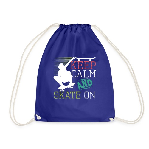 KEEP CALM AND SKATE ON Skateboarding Quote - Turnbeutel