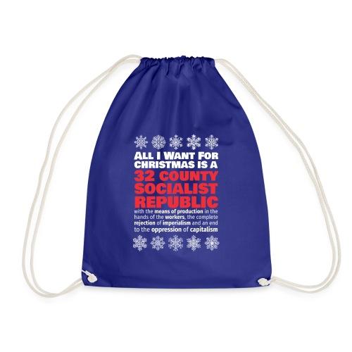 United Ireland 32 county socialist republic Christmas shirt - Drawstring Bag