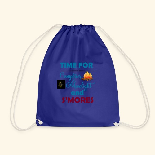 Time for camping and S'mores - Drawstring Bag