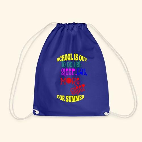 Last day of school - Drawstring Bag