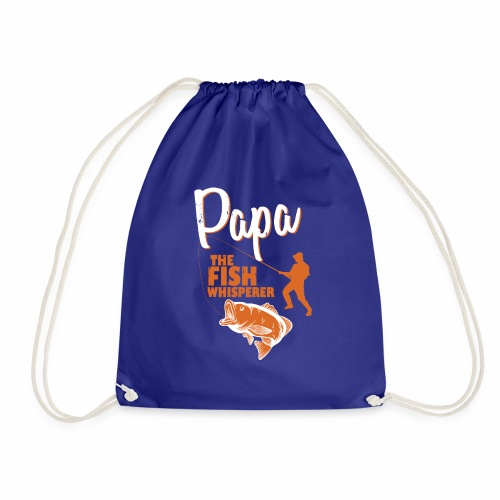 PAPA THE FISH WHISPERER NEW - Drawstring Bag