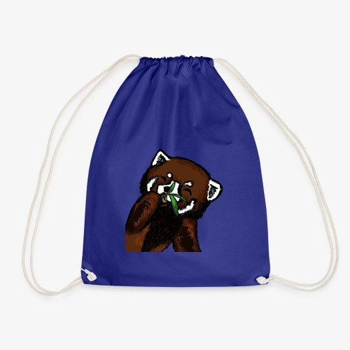 Cute red panda with Bamboo Wildlife T-Shirt - Drawstring Bag