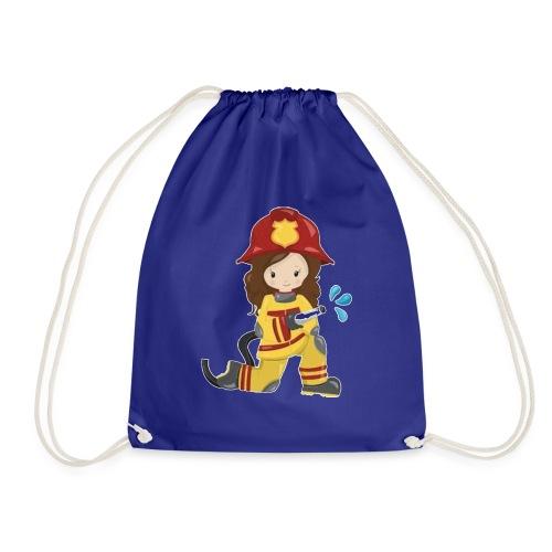 Feuerwehrfrau - Turnbeutel
