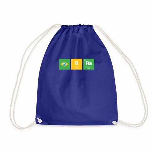 Brazil Flag BRa Chemical Element Periodic Table - Drawstring Bag