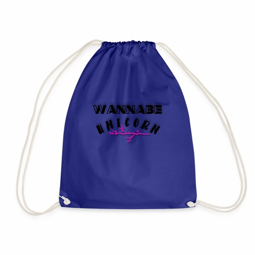 Wannabe Unicorn Funny Unicorn Cute Girly Design - Drawstring Bag